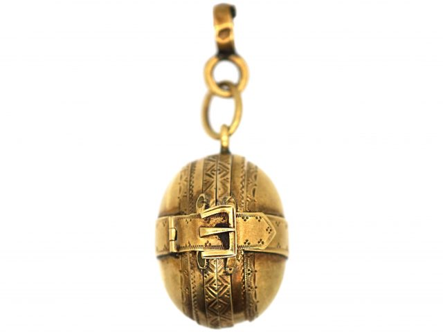 Victorian 15ct Gold Locket with Six Compartments for Photographs