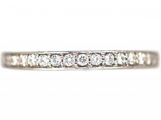 Narrow 18ct White Gold & Diamond Eternity Ring